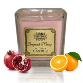 """Sojavahast naturaalne lõhnaküünal """"Granaatõun & Apelsin"""""""