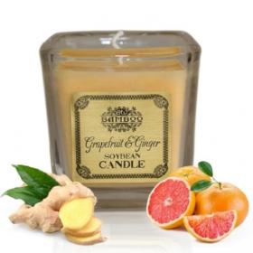 """Sojavahast naturaalne lõhnaküünal """"Greipfruut & Ingver"""" (hetkel otsas)"""