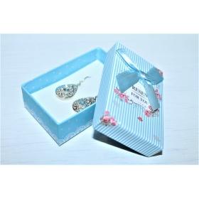 """Kinkekarp """"Present for You"""" kõrvarõngastele/ripatsile/sõrmusele helesinine 8*5*2,5cm"""