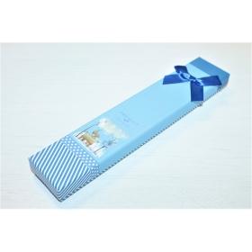 """Kinkekarp kaelakeele/käeketile """"Present for You""""  sinine 21*4*2cm"""