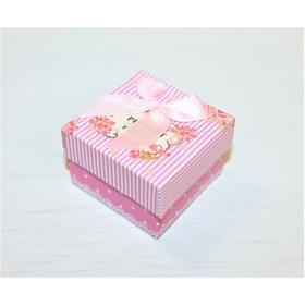 "Kinkekarp sõrmusele ""Present for You"" roosa 5*5*3cm"