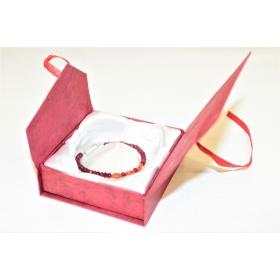 """Kinkekarp """"Roos"""" punane / paeltega / käevõrule/kaelakeele 9*9*3cm"""