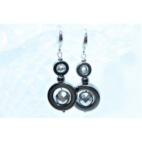 """Hematiit / Titaniseeritud Hematiit disain kõrvarõngad """"Ring"""""""
