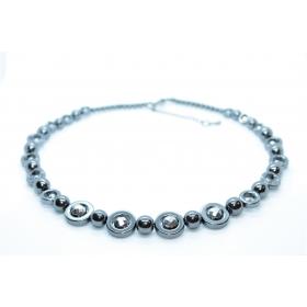 """Hematiit / Titaniseeritud Hematiit disain kaelakee """"Ring"""" 45cm"""