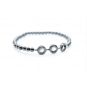 """Hematiit / Pärl disain käevõru """"Ring"""""""