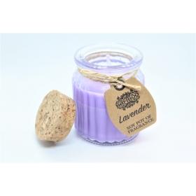 Sojavahast naturaalne lõhnaküünal Lavendel