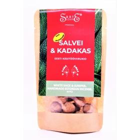 Viirukid: Salvei ja Kadakas koos põletusalusega