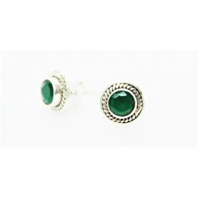 Smaragd Kõrvarõngad Sunna; Hõbe 925; 1,0g