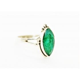 Smaragd hõbesõrmus Marquise 925; Suurused: 16; 18; 18,25; 19