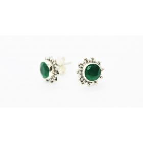 Smaragd Kõrvarõngad Surya; Hõbe 925; 1,1g