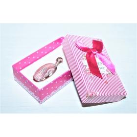 """Kinkekarp """"Present for You"""" kõrvarõngastele/ripatsile/sõrmusele fuksia 8*5*2,5cm"""