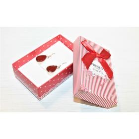 """Kinkekarp """"Present for You"""" kõrvarõngastele/ripatsile/sõrmusele punane 8*5*2,5cm"""