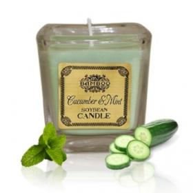 """Sojavahast naturaalne lõhnaküünal """"Kurk & Münt"""""""
