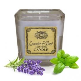 """Sojavahast naturaalne lõhnaküünal """"Lavendel & Basiilik""""(hetkel otsas)"""