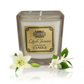 """Sojavahast naturaalne lõhnaküünal """"Liilia & Jasmiin"""""""