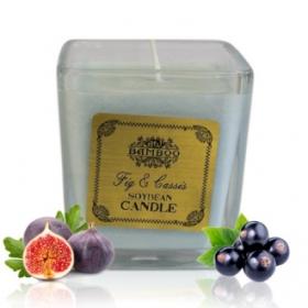 """Sojavahast naturaalne lõhnaküünal """"Viigipuu & Cassis"""""""