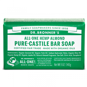 Almond Pure Castile Organic Bar Soap, mandel