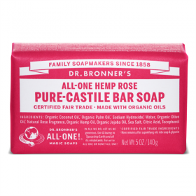 Rose Pure Castile Organic Bar Soap, roos