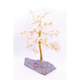 Roosa Kvarts Kristallipuu 160 kristalli