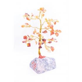 Karneool kristallipuu 80 kristalli