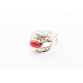 Korall sõrmus Hõbe 925; 3,9g