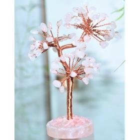 Roosa Kvarts kristallipuu